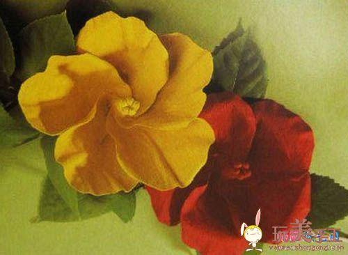 缅栀花折纸教程图解-两种折法